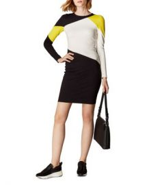 KAREN MILLEN Color-Block Paneled Ponte Dress Women - Bloomingdale s at Bloomingdales