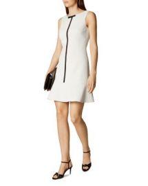 KAREN MILLEN Contrast Trim Dress at Bloomingdales
