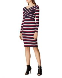 KAREN MILLEN Crisscross Striped Dress  Women - Bloomingdale s at Bloomingdales