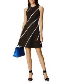 KAREN MILLEN Diagonal Stripe A-Line Dress at Bloomingdales