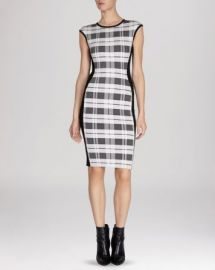KAREN MILLEN Dress - Check Bandage Knit Collection at Bloomingdales