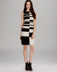 KAREN MILLEN Dress - Engineered Graphic Stripe Collection at Bloomingdales