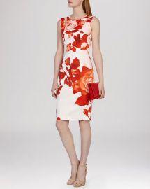 KAREN MILLEN Dress - Oversized Placed Floral Print at Bloomingdales