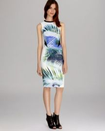 KAREN MILLEN Dress - Signature Stretch Palm Print at Bloomingdales