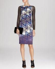 KAREN MILLEN Dress - Zigzag Check Print Signature Stretch at Bloomingdales