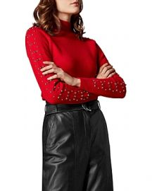 KAREN MILLEN EMBELLISHED-SLEEVE SWEATER at Bloomingdales