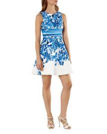KAREN MILLEN Floral Print Mini Dress at Bloomingdales