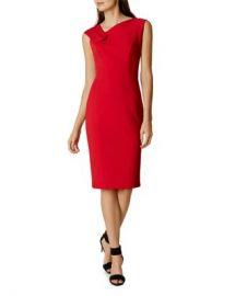 KAREN MILLEN Fold-Detail Pencil Dress Women - Bloomingdale s at Bloomingdales