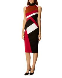 KAREN MILLEN Graphic-Paneled Pencil Dress at Bloomingdales