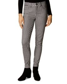 KAREN MILLEN Houndstooth Skinny Jeans in Multi at Bloomingdales