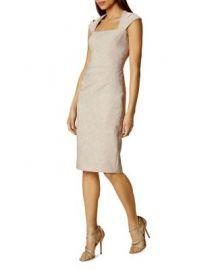 KAREN MILLEN Jacquard Sheath Dress at Bloomingdales