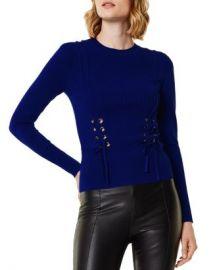 KAREN MILLEN Lace-Up Sweater  Women - Bloomingdale s at Bloomingdales