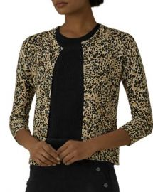 KAREN MILLEN Leopard Print Cardigan  Women - Bloomingdale s at Bloomingdales