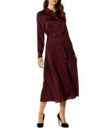 KAREN MILLEN Leopard Print Maxi Shirt Dress Women - Bloomingdale s at Bloomingdales