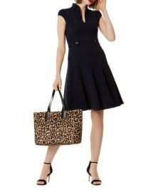 KAREN MILLEN Military Fit-and-Flare Dress Women - Bloomingdale s at Bloomingdales