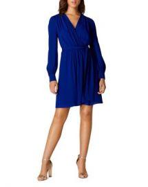 KAREN MILLEN Pintuck Faux-Wrap Dress Women - Bloomingdale s at Bloomingdales
