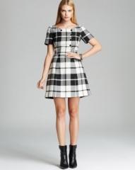 KAREN MILLEN Plaid Collection Dress - Bloomingdaleand039s Exclusive at Bloomingdales