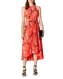 KAREN MILLEN Pleated Floral Midi Dress Women - Bloomingdale s at Bloomingdales
