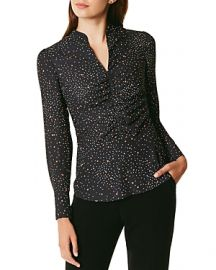 KAREN MILLEN RUCHED STAR PRINT TOP at Bloomingdales