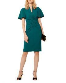 KAREN MILLEN Ruched V-Neck Pencil Dress Women - Bloomingdale s at Bloomingdales