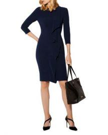 KAREN MILLEN Ruffled Pleated Pencil Dress Women - Bloomingdale s at Bloomingdales