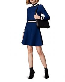 KAREN MILLEN SPORTY FIT-AND-FLARE DRESS at Bloomingdales