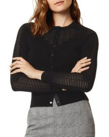 KAREN MILLEN Sheer Detail Cardigan  Women - Bloomingdale s at Bloomingdales