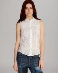 KAREN MILLEN Shirt - Broderie at Bloomingdales