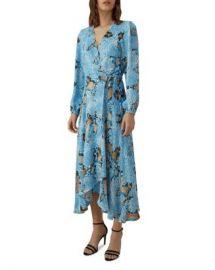 KAREN MILLEN Snake Print Wrap Dress Women - Bloomingdale s at Bloomingdales