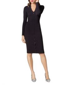 KAREN MILLEN Snap Detail Rib-Knit Dress Women - Bloomingdale s at Bloomingdales
