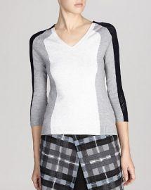 KAREN MILLEN Sweater - Mesh Color Block Knit at Bloomingdales
