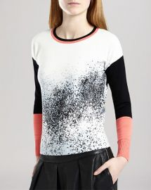 KAREN MILLEN Sweater - Pixel Print at Bloomingdales