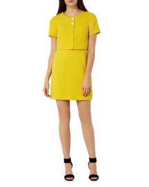 KAREN MILLEN Textured Mini Dress at Bloomingdales