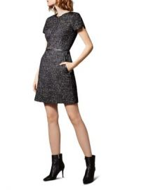 KAREN MILLEN Tweed Zip-Front Dress Women - Bloomingdale s at Bloomingdales