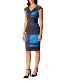 KAREN MILLEN Watercolor Check Dress at Bloomingdales