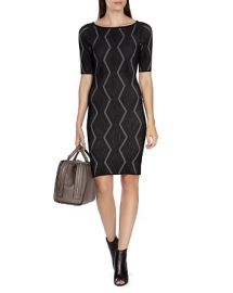 KAREN MILLEN Zigzag Bandage Dress at Bloomingdales
