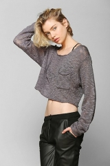KC By Kill City Boucle Cropped Sweater at Urban Outfitters