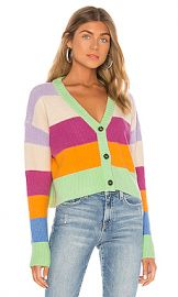 KENDALL   KYLIE Striped Cardigan in Multi from Revolve com at Revolve