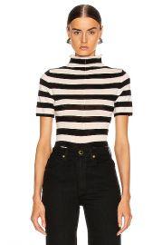 KHAITE Nidia Sweater in Black   Cream Stripe   FWRD at Forward