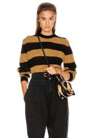 KHAITE Viola Crewneck Pullover Sweater in Black   Fawn Stripe   FWRD at Forward