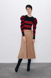 KNIT SWEATER WITH STRIPES at Zara