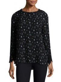 KOBI HALPERIN - Cassie Printed Bell-Sleeve Silk Blouse at Saks Fifth Avenue