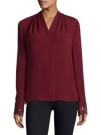 KOBI HALPERIN - Maura Silk Blouse at Saks Fifth Avenue