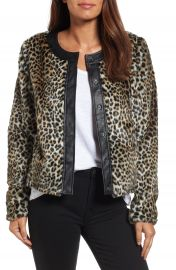 KUT from the Kloth Courtney Faux Leopard Fur Jacket at Nordstrom