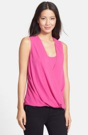 KUT from the Kloth Lace Yoke Faux Wrap Blouse at Nordstrom