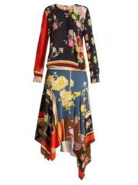 Kaia floral-print crepe de Chine dress at Matches