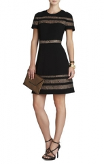 Kalli Lace inset dress at Bcbgmaxazria