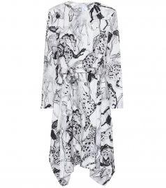 Kalyn printed silk midi dress at Mytheresa