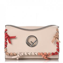 Kan Whipstitch Leather Shoulder Bag by Fendi at Fashionphile