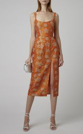 Kanara Embroidered Silk Midi Dress by Markarian at Moda Operandi